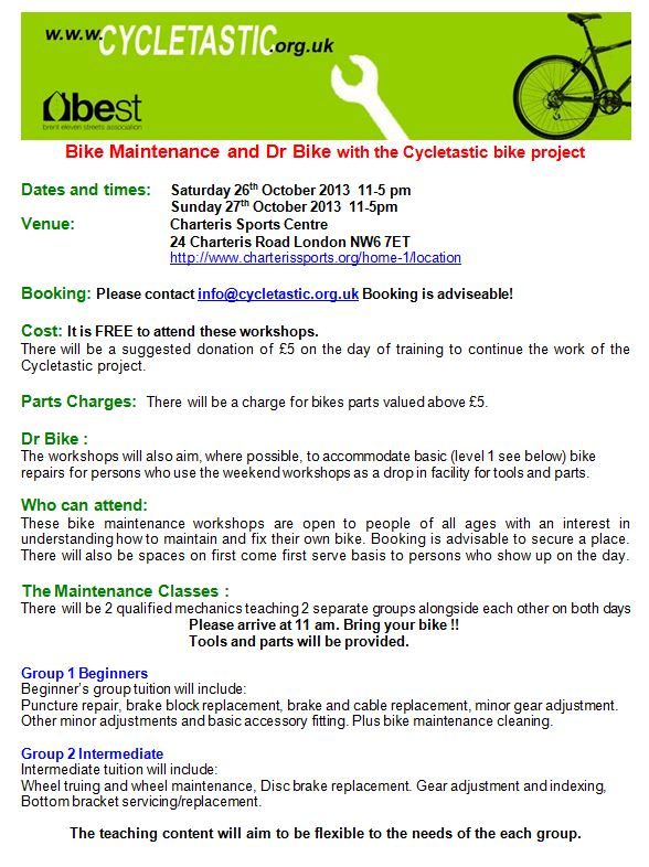 Bike Maintenance Flyer